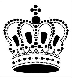 Crown stencil from The Stencil Library STENCIL IT range. Buy stencils online. Stencil code SIB24.