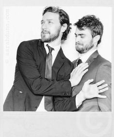 @studiobaby  Another treat from the new issue of @empiremagazine on sale now. #JamesMcAvoy #DanielRadcliffe photographed by me.