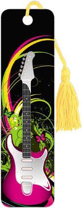 Guitar Swirls - Tasseled Bookmark