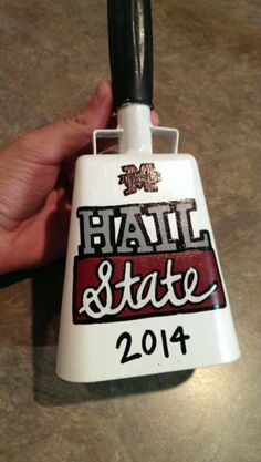 This is a hand painted cowbell for all of you Mississippi State lovers out there! The base is coated so that paint will stick to its metal