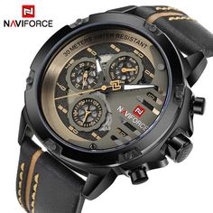 reputable site a5868 b2c4e Cheap clock brand, Buy Quality clock men waterproof directly from China  clock waterproof Suppliers  NAVIFORCE Mens Watches Top Brand Luxury  Waterproof 24 ...