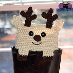 Peeping Reindeer Boot Cuffs crochet pattern (1 of 6 xmas themed characters) from Blackstone Designs