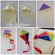 Bookmark Craft, Diy Bookmarks, Origami Bookmark, Craft Stick Crafts, Diy And Crafts, Crafts For Kids, Arts And Crafts, Paper Crafts Origami, Diy Paper