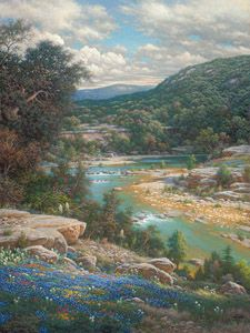 Cliffs of the Nueces by Larry Dyke - Dyke is one of the most successful and acclaimed artists of his generation. He paints powerful landscapes inspired by his deep, personal belief in Christ and his frequent travels to domestic, international, and exotic locales.