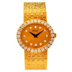 Piaget Lady's Yellow Gold and Diamond Bracelet Watch. Circa 1980s  | Watches for women