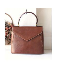 e49aabab18 Ferragamo Brown Leather Tote bag vintage authentic handbag by hfvin on Etsy   ferragamo  brown