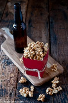 Salted Beer Caramel Corn with #stonebrewing Imperial Russian Stout.   http://www.stonebrewing.com/irs/