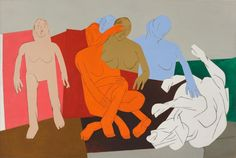 Tyeb Mehta (India, 1925-2009)   Sequence, 1981. He often used jagged diagonals to break up his scenes.