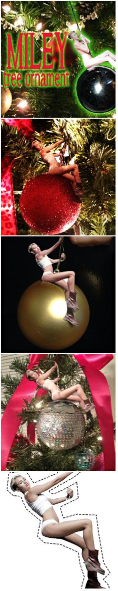 White Elephant, Funny & Gag Gifts ● DIY Miley Cyrus Wrecking Ball Christmas Ornament