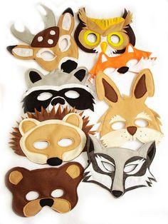 Animali del bosco per bambini sentito maschera di MagicalAttic