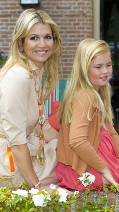 Queen Maxima with her daughter The Princess of Orange: Catharina-Amalia.