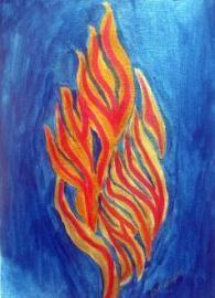 Shema Flame art print by Rivka Sari www.rivkasari.com