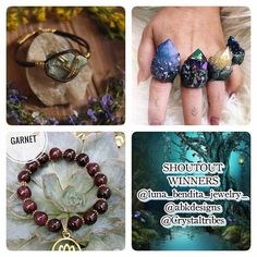 : These are the winners of our overnight MEGA SHOUT OUT. Please go follow and show them some love. @luna_bendita_jewelry_  @abkdesigns  @Crystaltribes   If you didn't win dont be discouraged. We do these all the time. Picking the winners is never easy and we wish we could choose everyone. So please try again next time. If you unfollow after the winners have been posted then you will be banned from entering all megas and giveaways we host.