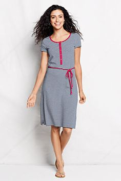 Women's Scoop Back A-line Dress - Pattern from Lands' End ...