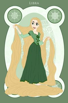 Libra/Rapunzel: The Signs of the Zodiac, Represented by Disney Princesses