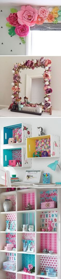 Awesome DIY Projects To Decorate A Girl's Bedroom. #apartment_decor_themes