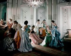 Ballgowns by James, 1948. Photo By Courtesy of The Metropolitan Museum of Art, Photograph by Cecil Beaton, Beaton / Vogue / Condé Nast Archive.  Thomas P. Campbell, Director and CEO of The Metropolitan Museum of Art, announced that the inaugural exhibition of the newly renovated Costume Institute in spring 2014 will examine the career of legendary 20th-century Anglo-American couturier Charles James (1906–1978). Charles James: Beyond Fashion
