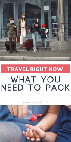 If you are traveling right now, things look different than before. It's hard to know what you need to bring along to stay safe and healthy. This travel packing list is everything you need to pack if you decide to travel right now. - Kids Are A Trip |travel packing list| stay healthy while traveling| healthy travel tips