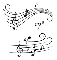 Music notes for a wedding cake