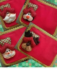 Felt Christmas Ornaments, Christmas Deco, Christmas 2016, Merry Christmas, Diy And Crafts, Christmas Crafts, Place Mats Quilted, Diy Craft Projects, Beautiful Christmas