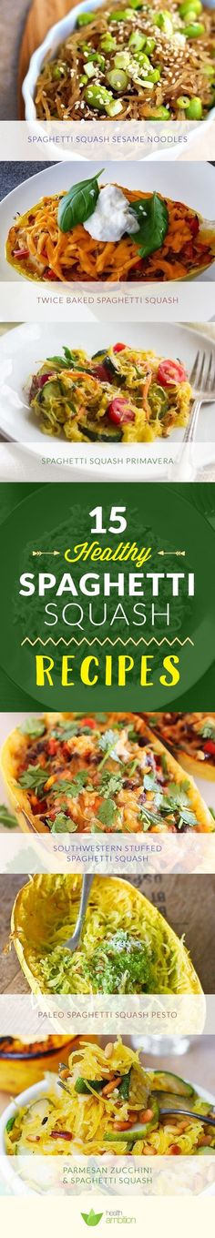 Healthy & Delicious spaghetti squash recipes for guild free culinary pleasures!