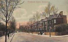 Old Postcard - Christchurch Avenue. Brondesbury NW London