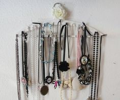 DIY Jewelry Storage from Wood Hanger