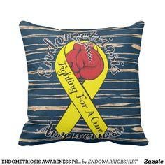 "ENDOMETRIOSIS AWARENESS Pillow 16"" x 16"""