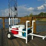 PVC fishing cart idea