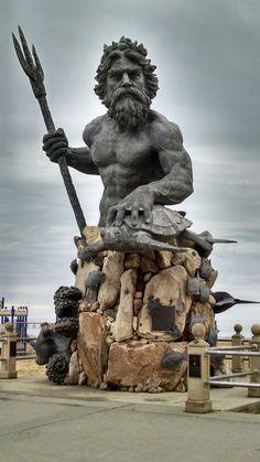 Neptune statue Virginia Beach, Va