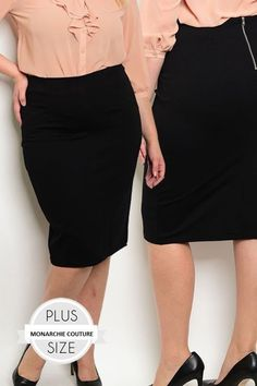 Fitted Waist Body-con Midi Skirt