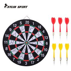 new indoor 15 inch sport double target dart magnetic flocking dartboard board double thickening for wholesale and shipping
