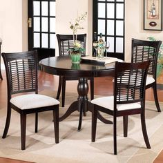 Love the chairs! Bayberry and Glenmary Five Piece Round Dining Set by Hillsdale