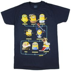 Despicable Me Minions Through The Ages T-Shirt