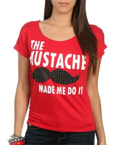 The Stache Tee from WetSeal.com