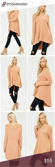 PRE ORDER NWT OFF SHOULDER LONG SLEEVE TOP Super cute,and could be paired with jeans and leggings Super comfy  Beautiful color Tops Tees - Long Sleeve