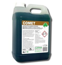 Comet - grease busting extraction cleaner detergent - https://www.clickcleaning.co.uk/products/comet-extraction-cleaner-detergent-1568?ListingLink=%2fcategories%2fcarpet-and-fabric-detergents
