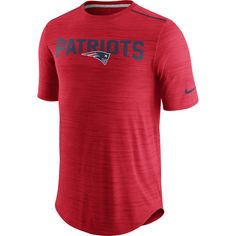 New England Patriots Nike Sideline Player Performance T-Shirt - Red - $64.99