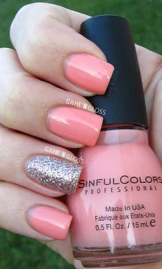 beautiful summer nails - Sinful Colors  facebook @ GAME N GLOSS