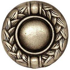 Laurel Round Silvertone Bronze