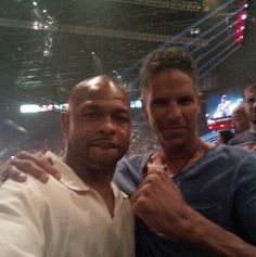 at the pacman fight with roy jones