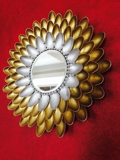 Plastic Spoon Sunburst Mirror