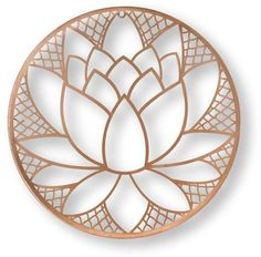 Graham & Brown H x W Botanical Metal Wall Sculpture at Lowe's. The lotus blossom is a symbol of purity and patience. For this graceful metal art the beautiful blossom is the center of the design completed in a Metal Wall Sculpture, Wall Sculptures, Metal Wall Art, Framed Wall Art, Wood Art, Wall Décor, Tree Wall, Lotus Sculpture, Wood Carving Art