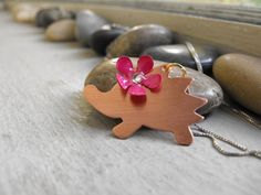 Hedgie the hedgehog pendant by patsdesign on Etsy, $20.00