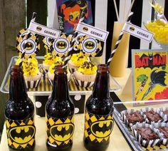 Batman dessert table #batman #birthday #superhero