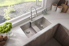 Avado™ Stainless Steel Zero Radius Double Bowl Undermount Sink EFULB361810CDBR