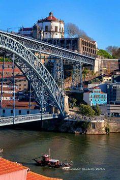 Ponte Luis I/Mosteiro Serra do Pilar-V.N.de Gaia Spain And Portugal, Portugal Travel, Douro Portugal, Porto City, Europe Holidays, Foto Real, Famous Places, Places Of Interest, Sydney Harbour Bridge
