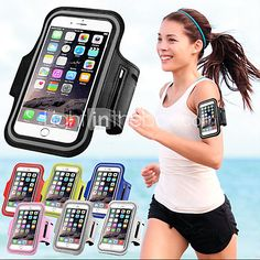 Waterproof Sports Arm Band Mobile Phone Holder Pounch Band Belt Case for iphone 6s 6 Plus - USD $3.99