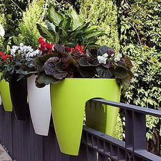apartment dwellers : check out these greenbo planters for balconies, fire escapes, etc!