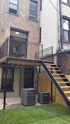StreetEasy: 518 Van Buren Street in Stuyvesant Heights, - Sales, Rentals, Floorplans Metal Stairs, Deck Stairs, House Stairs, Outside Stairs, Casa Loft, Home History, Raised Patio, Exterior Stairs, New York City Apartment